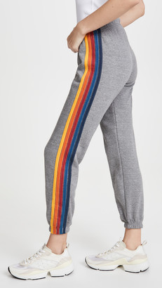 Aviator Nation 5 Stripe Sweat Pants