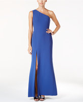 Calvin Klein One-Shoulder A-Line Gown