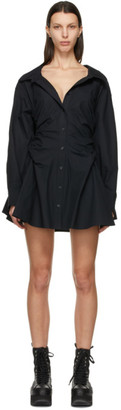 alexanderwang.t Black Cotton Cinched Shirt Dress