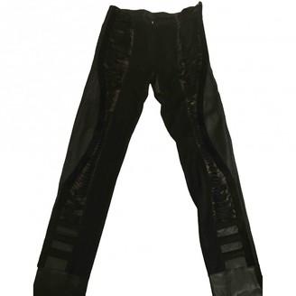 Fendi Black Leather Trousers