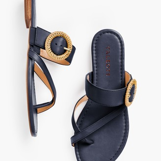 Talbots Gia Rattan Buckle Sandals - Nappa