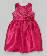 Jayne Copeland Berry Sequin Babydoll Dress - Toddler & Girls
