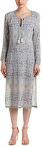 Calypso St. Barth Calypso Yolani Block Printed Silk Tunic Dress