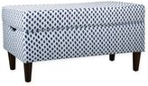 Skyline Furniture Katy Storage Bench in Sahara Midnight White Flax