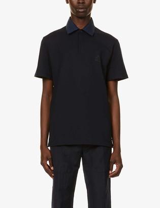 Lanvin Contrast-collar cotton polo shirt