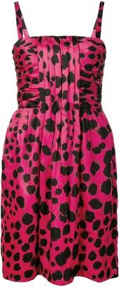 Moschino Pre-Owned cheetah print midi dress