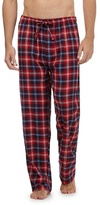 Mantaray Pack Of Two Navy And Red Checked Loungewear Bottoms