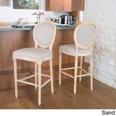 Christopher Knight Home Queen Anne Fabric Bar Stool