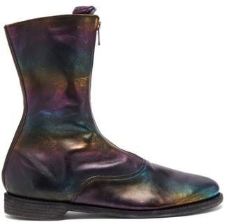Guidi Metallic Leather Boots - Black Multi