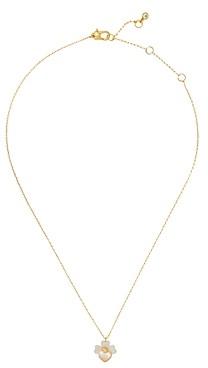 Kate Spade Precious Pansy Heart & Clover Pendant Necklace, 17-20