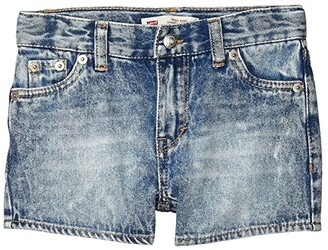 Levi's(r) Kids High-Rise Denim Shorty Shorts (Little Kids) (In The Clear) Girl's Clothing