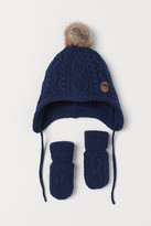 H&M Hat and Mittens - Blue