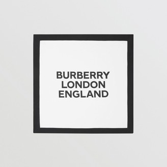 Burberry Logo Print Cotton Baby Blanket