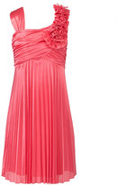 Sequin Hearts Kids Dress, Girls Silky Pleat Dress