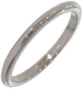 Tiffany & Co. 950 Platinum Milgrain Wedding Band Ring Size 7.75