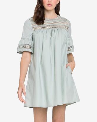 Express English Factory Eyelet Lace Mini Dress