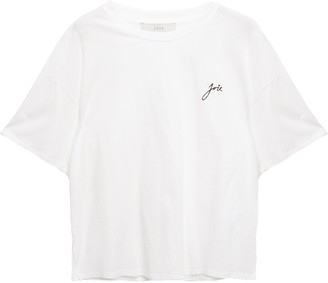Joie Embroidered Cotton-jersey T-shirt