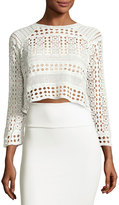 Raga Native Plains Sheer-Lace Top, White