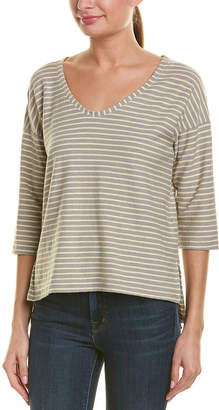James Perse 3/4-Sleeve Linen-Blend T-Shirt