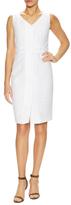 Lafayette 148 New York Farren Cotton Placket Sheath Dress