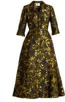 Erdem Kristen floral-jacquard midi dress