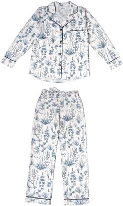 Phriya Women's Gray Circe's Garden Long Pajama Set