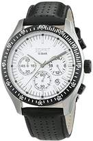 Esprit TP10286 Men's Quartz Watch with White Dial Analogue Display and Black Leather Strap ES102861004