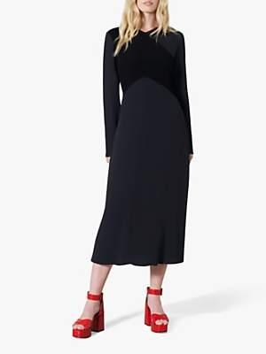 Finery Gracie Colour Block Flared Midi Dress