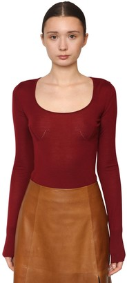 Salvatore Ferragamo Light Virgin Wool Blend Knit Sweater