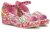 Dolce & Gabbana Mambo print brocade sandals - kids - Cotton/Leather/rubber - 37