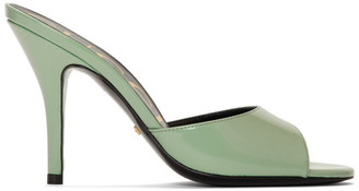 Gucci Green Slide Heeled Sandals