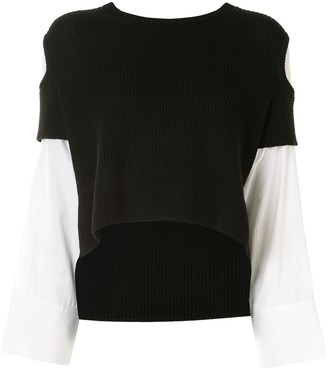 Y's Cut Out Knitted Top