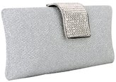 MG Collection Claudia Rhinestone Baguette Hard Case Style Evening Purse