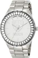 Game Time Women's NBA-WIN-BK Winner Baguette Stone Bezel Analog Display Japanese Quartz Watch