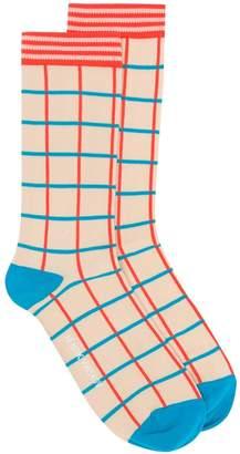 Henrik Vibskov check pattern socks
