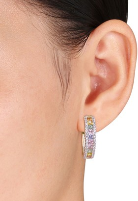 Saks Fifth Avenue 14K Yellow Gold & Multicolored Sapphire Hoop Earrings