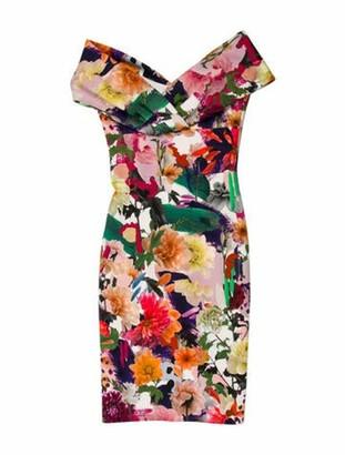 Cushnie Knee-Length Floral Dress w/ Tags Green