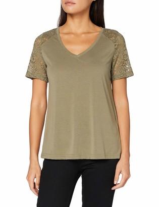JDY Women's JDYSTINNE S/S LACE TOP JRS RPT T-Shirt