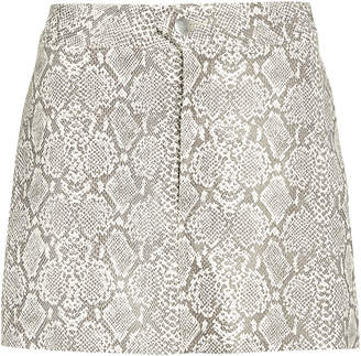 Georgia Alice Vegan Python Leather Mini Skirt