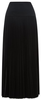 Joseph Bryanna Drop-waist Pleated Midi Skirt - Womens - Black