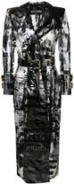 Balmain printed belted trench