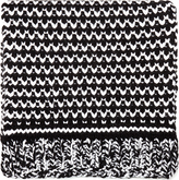 Stella McCartney Black & White Carpet Patch Knit Scarf
