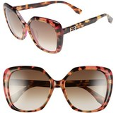 Fendi Women's 56Mm Retro Sunglasses - Havana/ Fucshia