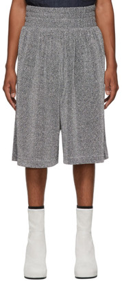 Random Identities Silver Lurex Shorts
