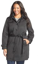 MICHAEL Michael Kors Plus Size Women's Single Breasted Raincoat