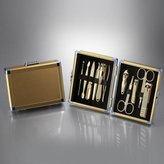 Three Seven 777 [TS-16000SVG] 11PCS Stainless Manicure Pedicure Cutter Nail Clipper Kit Set Tool (Gold)