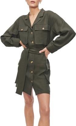 Anine Bing Kaiden Belted Utility Dress