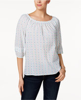Charter Club Cotton Off-The-Shoulder Textured Top, Created for Macy's