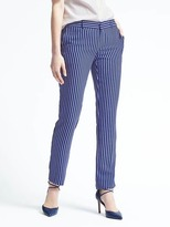 Banana Republic Ryan-Fit Blue Stripe Pant