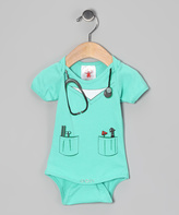 Rubie's Costume Co Teal Doctor Dress-Up Bodysuit - Infant